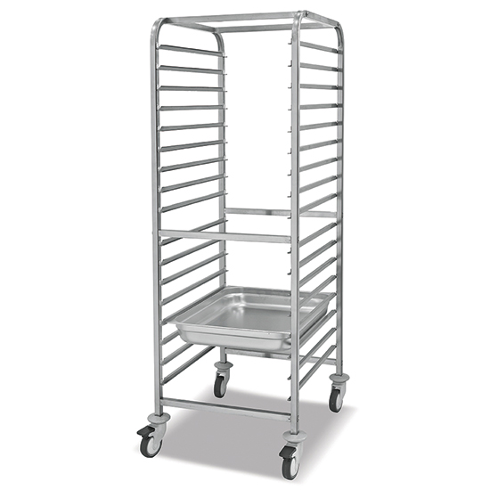 Carrello portabacinelle GN, 17x GN 1/1 h=65 mm