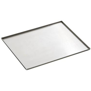 Teglia in alluminio non rivestita, GN 1/1 - 4 bordi 90°