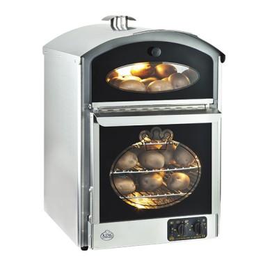 Forno ventilato per patate con vano caldo espositivo, capacità 60 patate