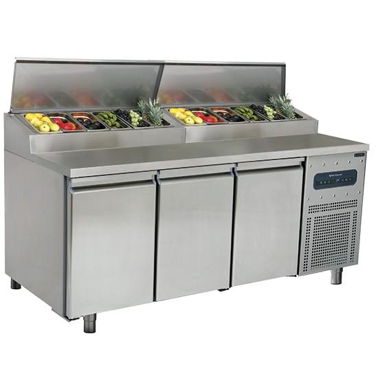 Tavoli per pizzeria e preparazione refrigerati profondità 800 mm