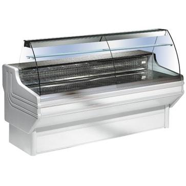 Vetrina refrigerata statica,vetro curvo, larghezza=1000