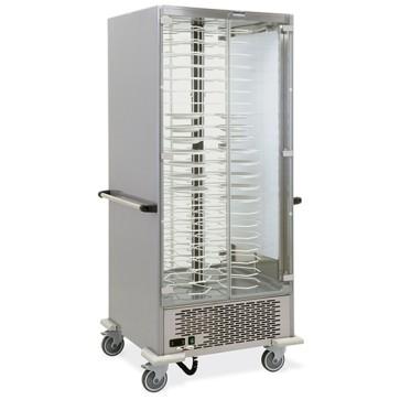 Vetrina portapiatti refrigerata statica su ruote, capacità 88 piatti ø 24-31 cm