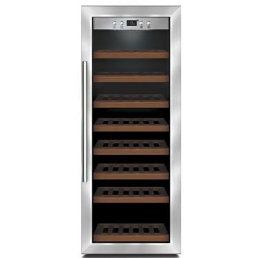 Espositore refrigerato per vini ventilato capacità 43 bottiglie 0,7 lt. temp. +5 °c/+22 °c