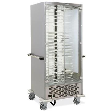 Vetrina portapiatti refrigerata statico su ruote, capacità 88 piatti ø 18-24 cm