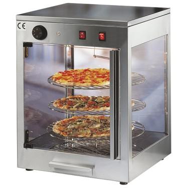 Vetrinetta pizza calda, 3 piani da ø 380mm