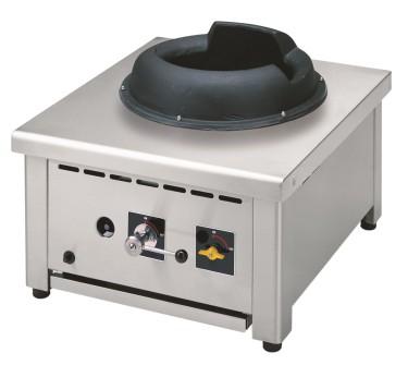 piano di cottura wok a gas da banco, 1 fuoco