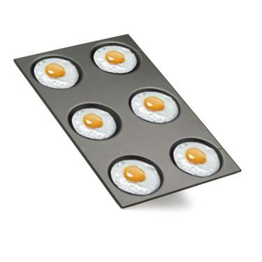Teglia GN 1/1 antiaderente per uova fritte, omelettes e crêpes ø 12,5 cm