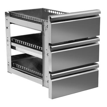 Kit cassettiera da 3x 1/3 per banchi pizza con profondità 800 mm