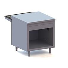 Elemento cassa terminale, dotata di cassetto con serratura e presa di corrente