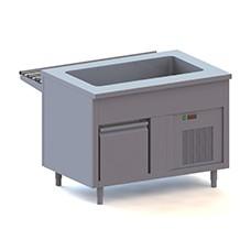Elementi con vasca refrigerata su armadio refrigerato