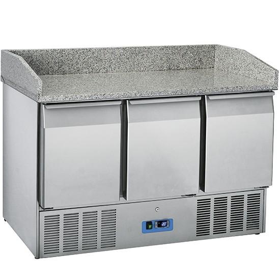 Tavoli per pizzeria refrigerati profondità 700 mm