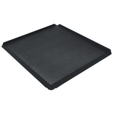 Teglia in alluminio non rivestita, GN 2/3 - 4 bordi 45°, rivestimento termoplastico, perforata