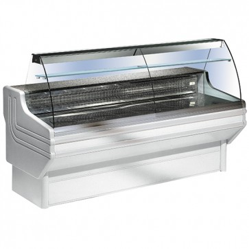 Vetrina refrigerata statica,vetro curvo, larghezza=3000