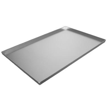 Teglia in alluminio non rivestita, 600x400 mm - 4 bordi 90°