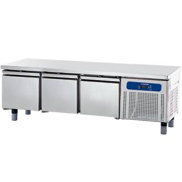 base refrigerata con 3 cassetti 1/1 per apparecchiature di cottura, l=1800 mm