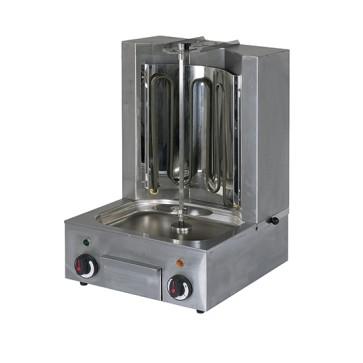 Gyros elettrico, 1 riscaldatore, motore sotto, cap. 10kg