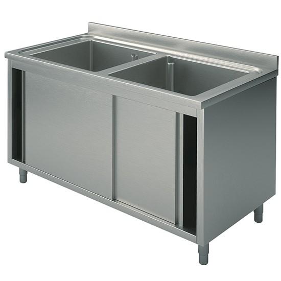 2 vasche, su armadio, con porte scorrevoli, profondità 60 cm