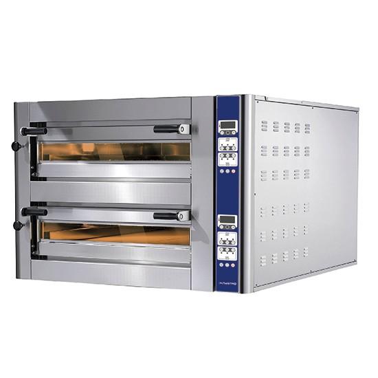 Forni pizza elettrici linea Donatello a due camere con controllo digitale programmabile sistema di cottura