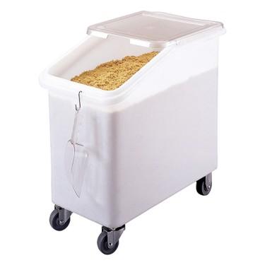 roll container per alimentari su 4 ruote con coperchio scorrevole, 102 litri