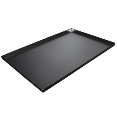Teglia in alluminio non rivestita, 600x400 mm - 4 bordi 90°, rivestimento termoplastico