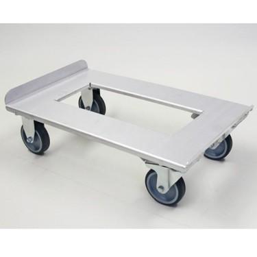 Carrello in aluminio per contenitore isotermico 600x400 mm con carico davanti