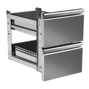 Kit cassettiera da 2x 1/2 per banchi pizza con profondità 800 mm