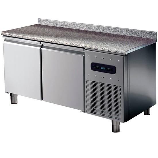 Tavoli congelatore pasticceria con piano in granito con alzatina bassa temperatura -10c -20c