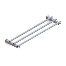 Scorrivassoio lineare fisso in tubo, larghezza=600 mm.