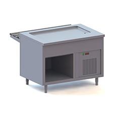 Elemento piano refrigerato su vano a giorno, l=1200 mm, 3x GN 1/1.