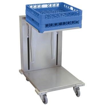 Carrello per trasporto cesti da lavastoviglie 500x500 mm