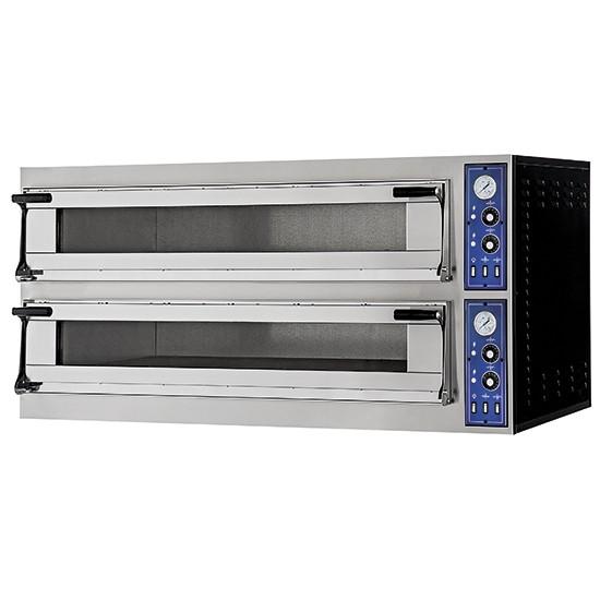 Forni pizza elettrici predisposti per teglie 60x40cm altezza 2 camere 180 mm