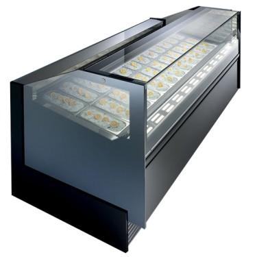 Vetrina gelati professionale con doppia ventilazione.