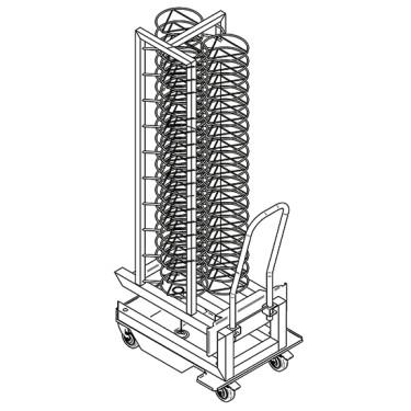 struttura carrellata portapiatti per forni da 20x GN 1/1, 50x ø 310 mm