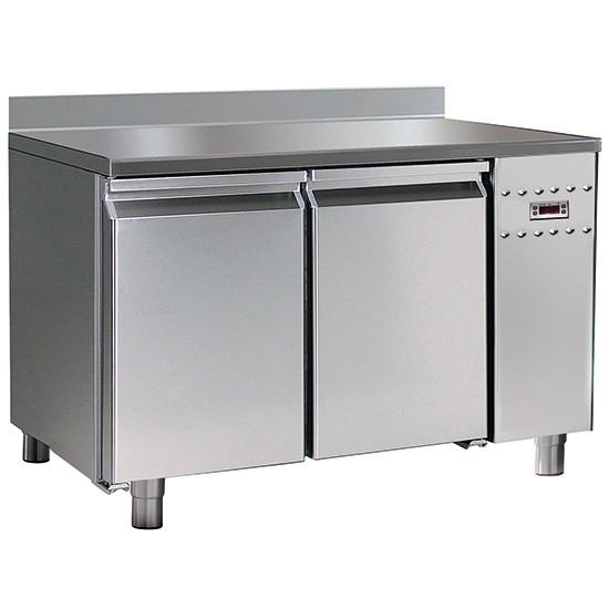 Tavoli refrigerati pasticceria con piano in inox con alzatina con gruppo remoto