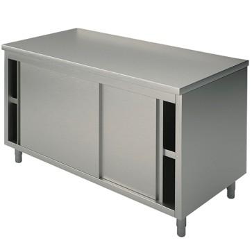 Tavolo armadio neutro, porte scorrevoli