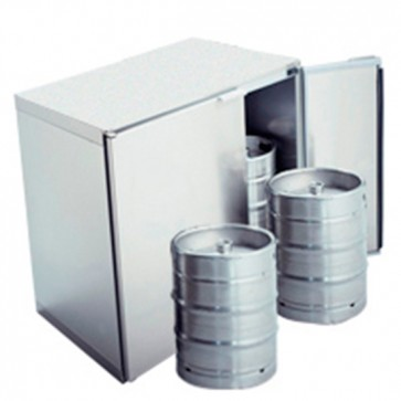 Refrigeratore fusti birragruppo remoto,capacità fusti 4x 50 litri