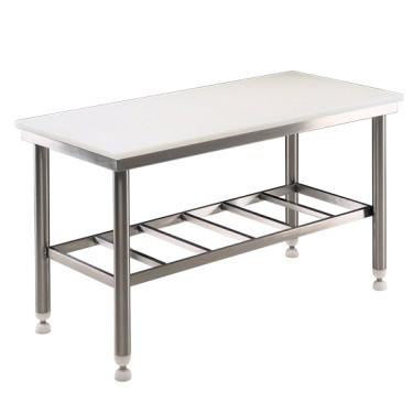 tavolo di lavoro con piano in polietilene, 1500x700 mm, spessore 25 mm
