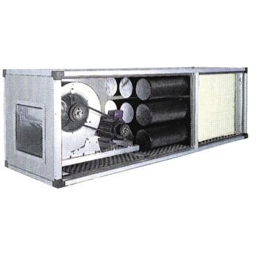 unità di filtrazione e deodorizzazione con motore a trasmissione, 6300/9000 m³/h