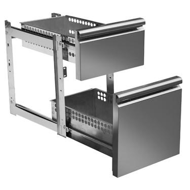 Kit cassettiera con soft self closing 1x 1/3 - 1x 2/3 per tavoli refrigerati 700 mm - linea VIRTUS