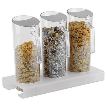 Espositore per cereali in plexiglas 3x 1,5lt