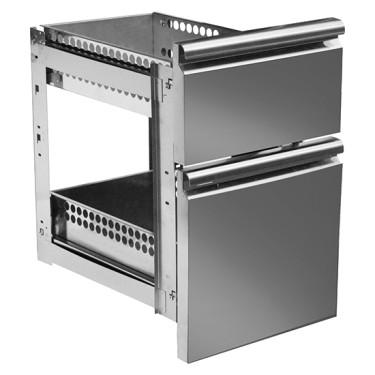 Kit cassettiera da 1x 1/3 e 1x 2/3 per tavoli refrigerati con profondità 600 mm