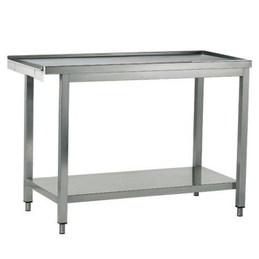 tavolo ingresso o uscita per lavastoviglie a capot, l=1200 mm