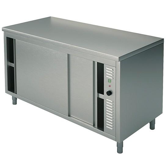 Tavoli armadiati caldi e riscaldati con porte scorrevoli profondità 70 cm