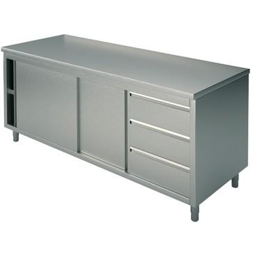 Tavolo armadio con cassettiera dx 3x gn1/1