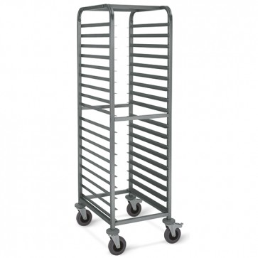 Carrello portabacinelle GN, 14x GN 1/1 h=75 mm