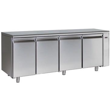 Tavolo refrigerato per gruppo remoto 4 porte gn 1/1 temp. -2 + 8 con hccp sistema di allarme