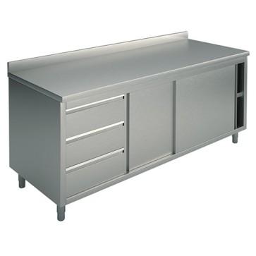Tavolo armadio; alzat./cassett. sx 3xgn1/1