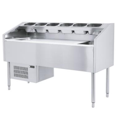 Tavolo di preparazione refrigerato ventilato, larghezza=1800 mm