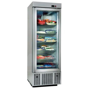 Congelatore da 650 litri con 1 porta a vetro e 6 ripiani, -2°/-18°C