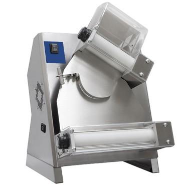 Dilaminatrice per pasta fresca con 2 rulli paralleli, per diametro da ø 14-30 cm